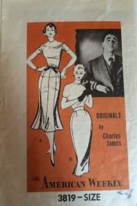 Charles James sewing pattern