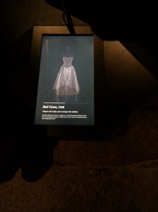 Charles James exhibit digital display