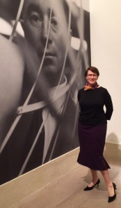 Wearing the Charles James skirt at the Met Exhibit