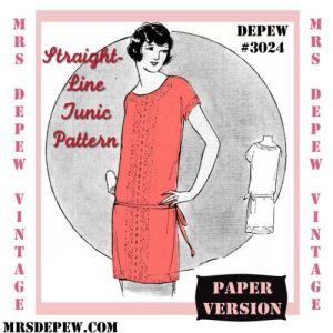 20s Tunic pattern