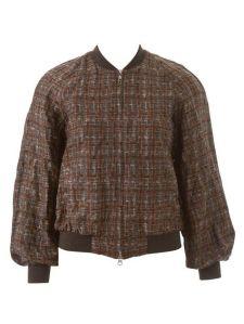 Burda flowing varsity jacket