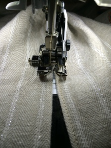 Edge stitch with walking foot