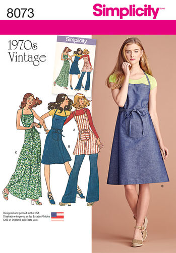 dd8ff336c96 The apron dress was such a huge deal in the early 70s. Of all the patterns
